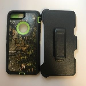 Iphone 7/8 Plus Protective Case/ Clip Green Tree